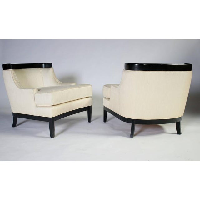 White Pair of Erwin Lambeth Lounge Chairs for Tomlinson For Sale - Image 8 of 8