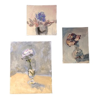Gallery Wall Collection 3 Original Contemporary Still Life Impressionist Paintings For Sale