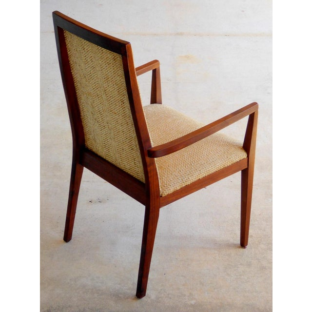 Dillingham Mid-Century Walnut Dining Chairs - Set of 6 - Image 5 of 9
