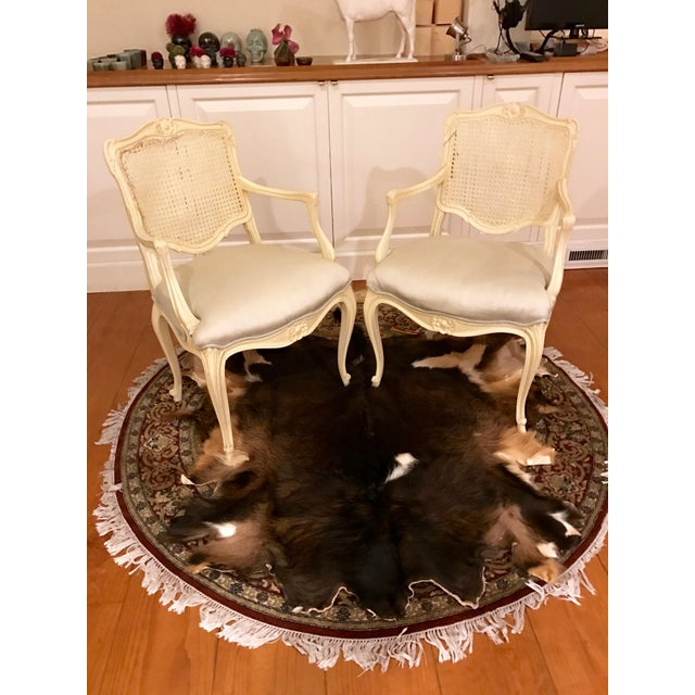 Louis Style Carved Wood White Chairs - a Pair - Image 2 of 10