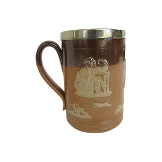 Antique Doulton Lambeth Toby Pint Pub Tankard For Sale
