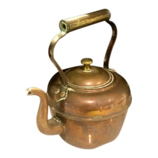 Antique Jubliee Tea Kettle by Matthew J Hart and Sons For Sale