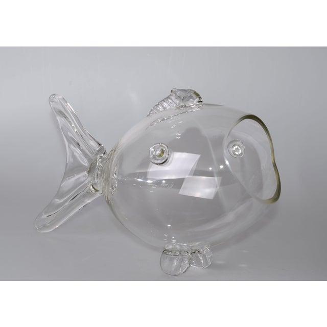 Blenko Handblown Glass Fish Candy Bowl - Image 9 of 9