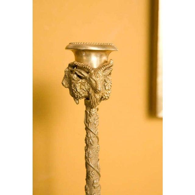 Pair Renaissance-Style Gilt Bronze Candlesticks - Image 4 of 10