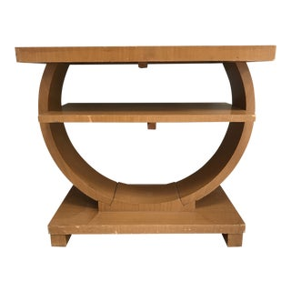 1930s Art Deco Brown Saltman Maple Side Table For Sale