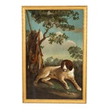 Image of Early 19th Century Portrait of a Hunting Dog Oil Painting, Framed For Sale