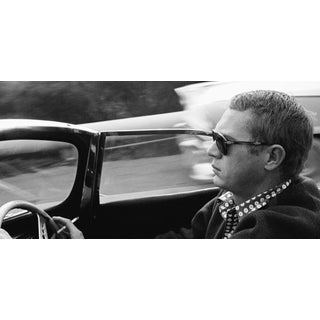 1960 Steve McQueen Driving Photo by Sid Avery For Sale