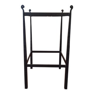 Wrought Iron & Tile Side Table