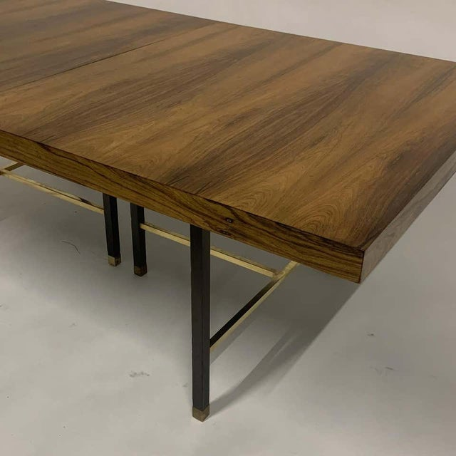 Harvey Probber Harvey Probber Sculptural Floating Dining Table in Rosewood, Brass and Mahogany For Sale - Image 4 of 13
