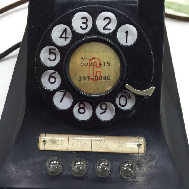 1950 2-Line Telephone WE Model 440EG Black - Image 6 of 8