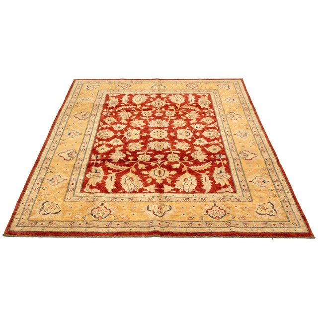 English Hand-Knotted Red Rug For Sale - Image 3 of 9