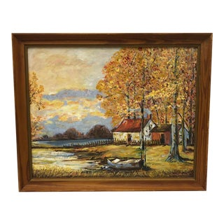 """""""Rustic Scene"""" Original Painting on Canvas For Sale"""