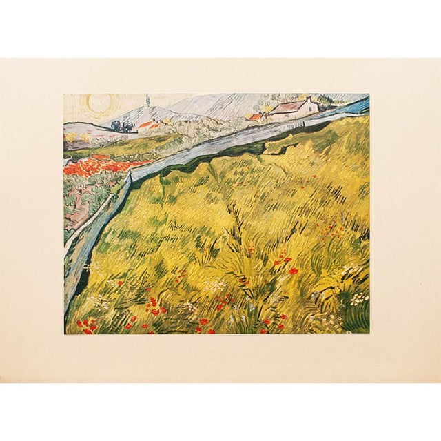 """Lithograph 1950s Van Gogh, First Edition Lithograph """"The Wheat Field"""" For Sale - Image 7 of 7"""