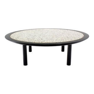48 Inches Round Mid-Century Modern Coffee Table by Baker For Sale