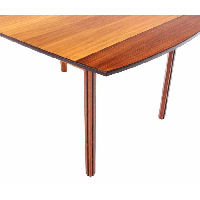 Sophisticated Striped Pattern Rosewood And Teak Danish Modern Dining - Danish modern kitchen table