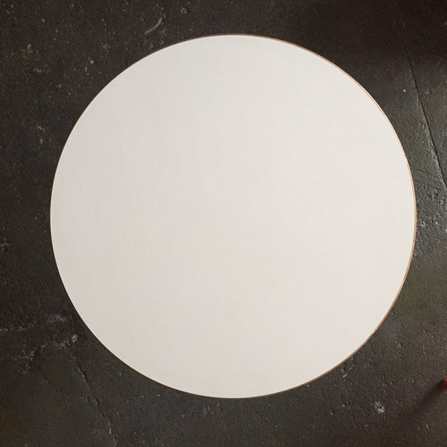 Jens Risom Side Table With White Laminate Top - Image 6 of 6