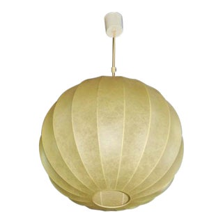 Italian Modern Parchment Bubble Chandelier For Sale