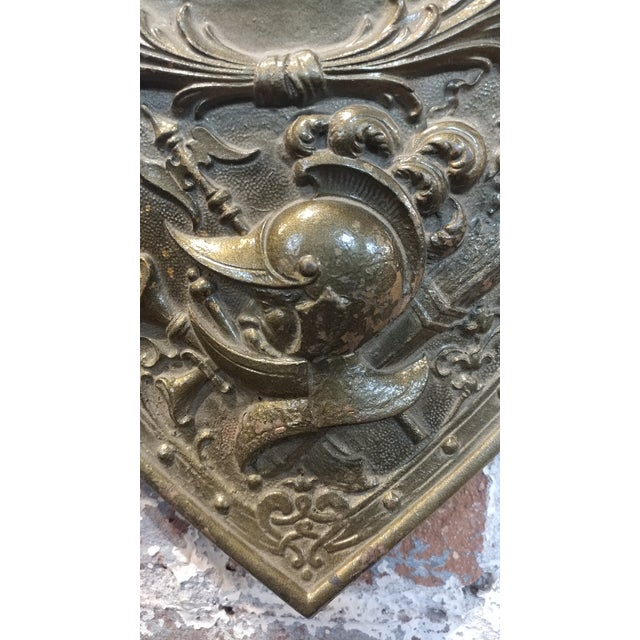 Vintage Mythological Bronze Wall Plaque Shields - A Pair For Sale In Los Angeles - Image 6 of 9