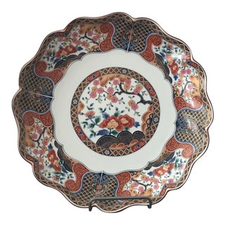Late 19th Century Hand-Painted Large Imari Platter For Sale