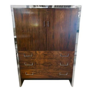 Milo Baughman for John Stuart Mid-Century Modern Ebony High Chest Commode