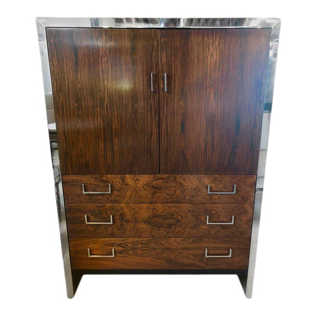 Milo Baughman for John Stuart Mid-Century Modern Ebony High Chest Commode - Image 1 of 11