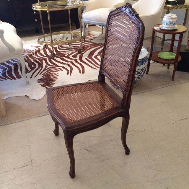 French Cane Dining Chairs - Set of 4 - Image 6 of 6