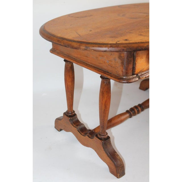 Coffee 19th Century Pine Oval Coffee/Side Table For Sale - Image 8 of 9