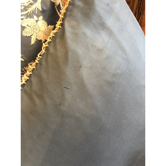 Silk Big Silk Periwinkle Blue and Cream Ralph Lauren Embroidered Pillows -A Pair For Sale - Image 7 of 8