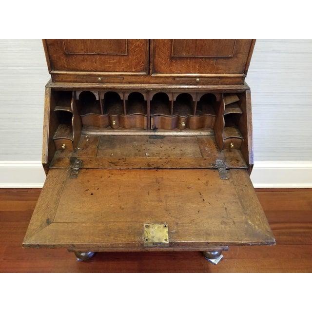 Wood 17th CenturyEnglish Walnut Double Dome Bureau For Sale - Image 7 of 13