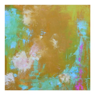 """Original Abstract """"Spring Colors"""" Oil on Board Painting by Paul Ashby"""