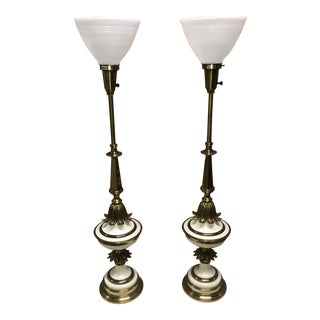 1960s Stiffel Art Deco Style Table Lamps - a Pair For Sale