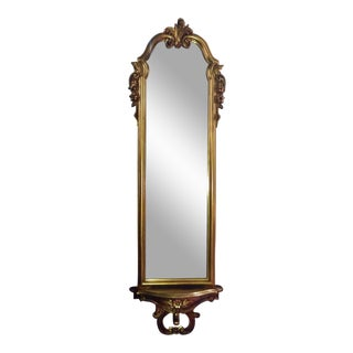 Vintage Full Length Gold Gilt Wall Mirror For Sale