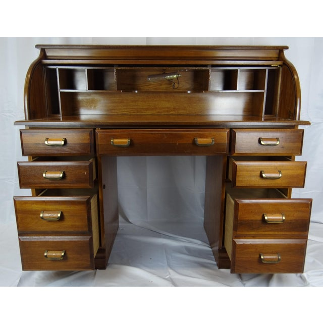 1960s Mid-Century Wooden Desk For Sale - Image 5 of 9