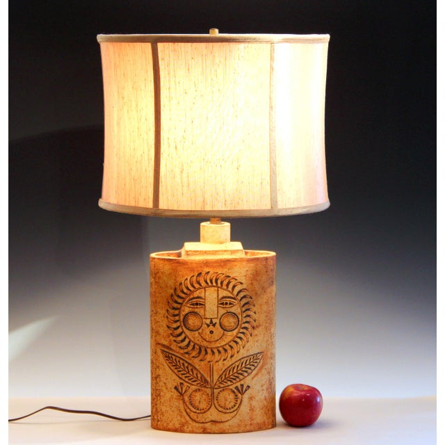 1950s Roger Capron French Studio Vallauris Pottery Lamp For Sale - Image 12 of 12