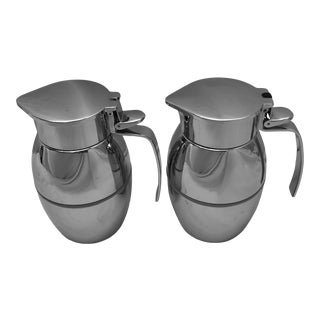 German Chrome Pitchers-a Pair For Sale