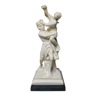 "Italian ""The Rape of Proserpina"" by Bernini, Made, Hand Carved Statuette by Amilcare Santini For Sale"