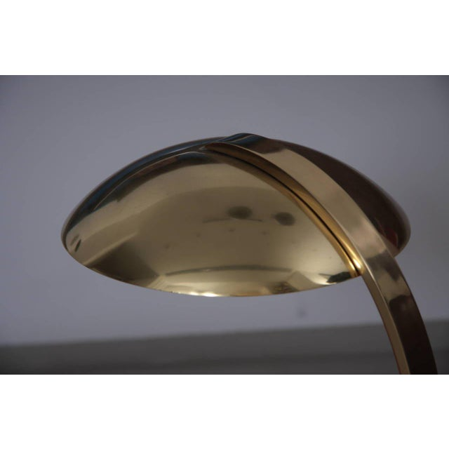 1960s Italian 1960s Luxury Brass Table Lamp For Sale - Image 5 of 6