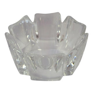 1980s Orrefors Corona Crystal Bowl For Sale