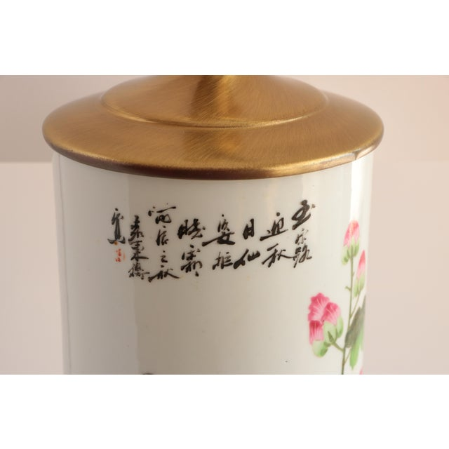 Chinese Porcelain Hat Stand Table Lamp For Sale In Madison - Image 6 of 8