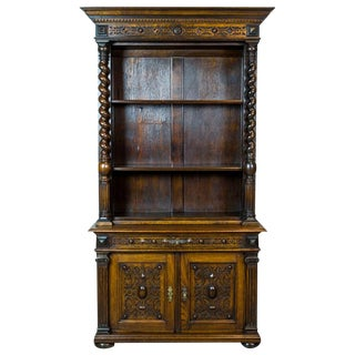 Eclectic Oak Cupboard from the 19th Century For Sale