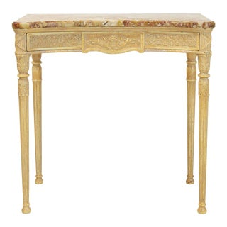 Louis XVI Style Marble-Top Console Table For Sale