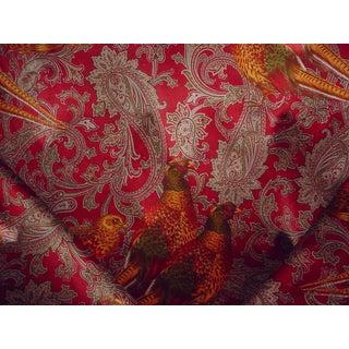 Ralph Lauren Hunting Manor Paisley Port Velvet Upholstery Fabric - 9 1/8 Yards For Sale