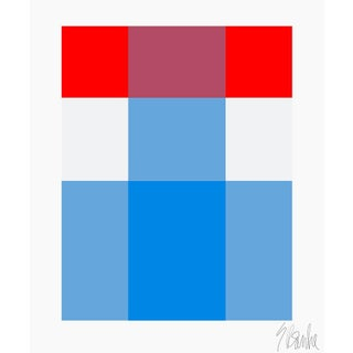 """French Picnic, Red Over Blue Fine Art Print 40"""" X 50"""" by Liz Roache For Sale"""