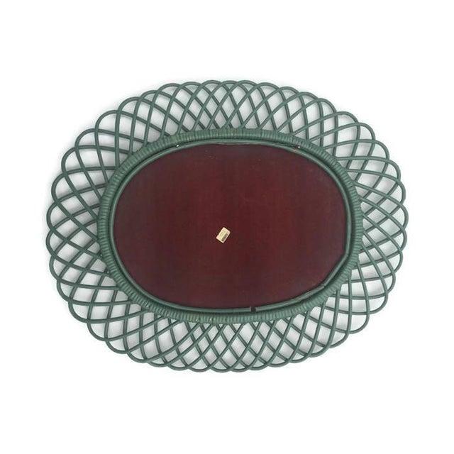 "Mid Century Bent Bamboo Wall Mirror Italian 31"" - Image 6 of 10"