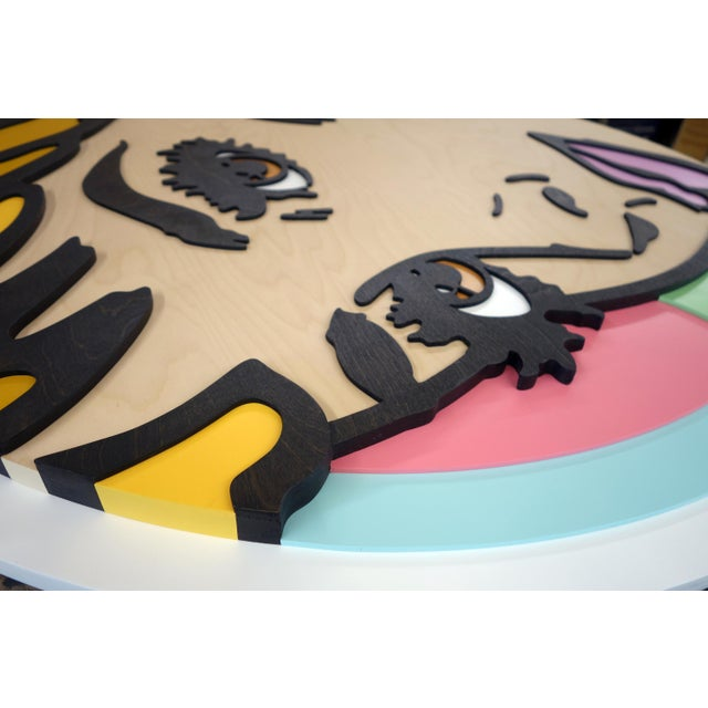 Forever and a Day Pop Art Painting on Birch Wood For Sale In New York - Image 6 of 7