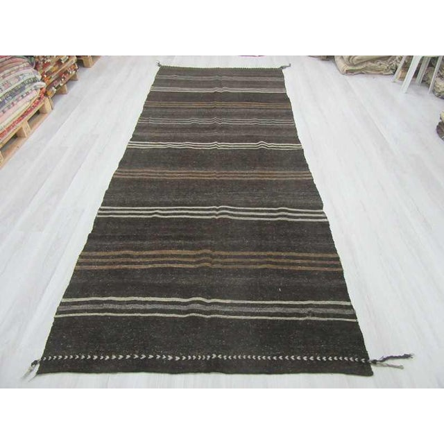 Handwoven vintage kilim rug from Afyon region of Turkey. Approximately 45-55 years old.In very good condition.