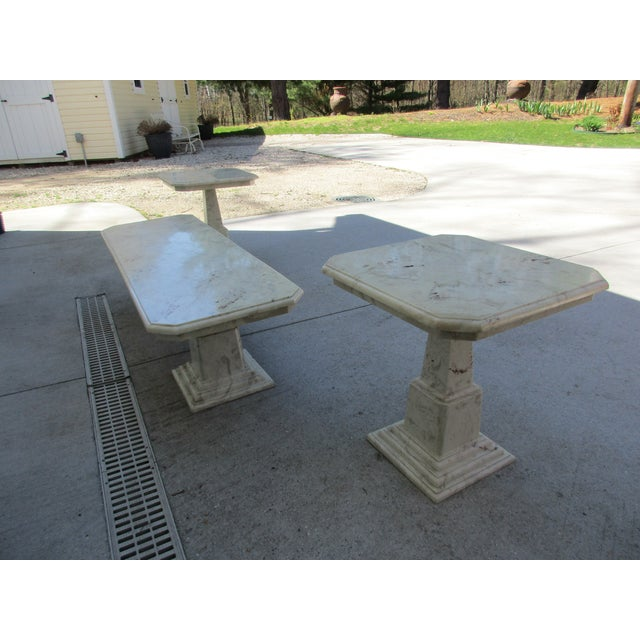Marble End Tables and Coffee Table - Set of 3 - Image 9 of 11