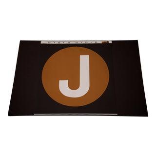 "New York City Subway ""J"" Train Sign"