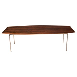 Mid Century Rosewood Conference Dining Table by Florence Knoll For Sale
