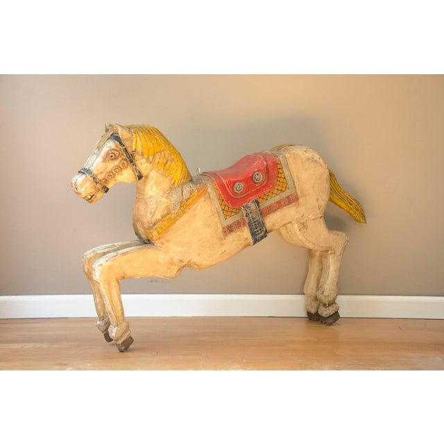 Antique Wooden Polychrome Carousel Horse - Image 2 of 8